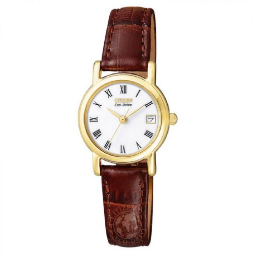 EW1272-01B Citizen Watch Stainless Steel with Yellow Gold Ion Plating Eco-Drive Ladies Strap